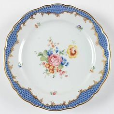 HutschenreutherCoburg at Replacements, Ltd, $299 dinner plate. I bought 1 salad plate about 20 years ago, to hang for decoration. Still one of my favorite things!