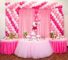 Ballonboog. Verjaardag met Hello Kitty thema. De ballonboog komen wij kant en klaar bezorgen bij u thuis of op locatie. Meer info of bestellen via onderstaande link. http://www.ballonboog.nl/ballonboog