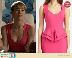 ... neck dress on Revenge | Karine Vanasse | Clothes and Wardrobe from TV