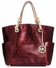 MICHAEL Micheal Kors Handbag, Signature Patent East West Tote - Tote Bags - Handbags & Accessories - Macy's
