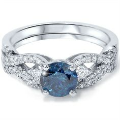 Have you considered blue diamond???  Something blue for your wedding!
