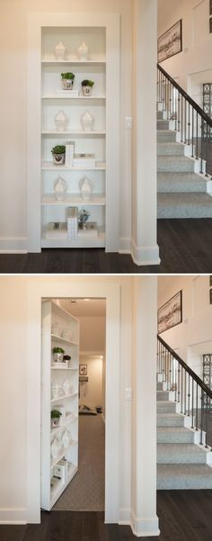 Secret Dog Playroom Behind Secret Bookcase Door Barking bookcase? This bookcase door and secret room was custom built into a home in Animal Room, Bookcase Door, Hidden Bookshelf Door, Hidden Shelf, Door Shelves, Hidden Doors In Walls, Bookshelf Closet, Diy Bookcases, Playroom Closet