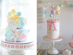 Balloon Cakes For All Occasion on Cake Geek Magazine (cakes from Lyon's Bakery, left and Blissfully Sweet Cakes, right). See the full collection of party cakes with balloons here: http://cakegeek.co.uk/index.php/balloon-cakes-for-all-occasions/