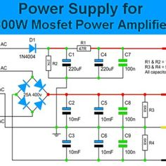 3000w stereo power amplifier circuit | hubby project ... circuit diagram 3000w audio amplifier #9