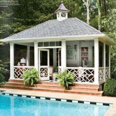 screened poolhouse