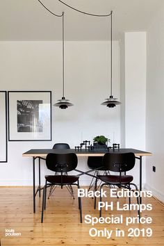 Special price on new black editions of PH's iconic lamps – both table lamps and pendants. Black Editions of Poul Henningsen's classic lamps. The promotional price on these Danish design classics is only valid from 29 November to 31 December Large Metal Wall Clock, Metal Wall Decor, Dining Room Lighting, Pendant Light Dining Room, Dining Room Lamps, Pendant Lamp, Industrial Style Lamps, Luminaire Design, Modern Pendant Light