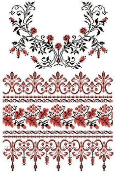 Easiest Crochet Frills Border Ever! Cross Stitch Borders, Cross Stitch Designs, Cross Stitch Patterns, Folk Embroidery, Cross Stitch Embroidery, Embroidery Patterns, Cross Stitch Christmas Ornaments, Palestinian Embroidery, Vides