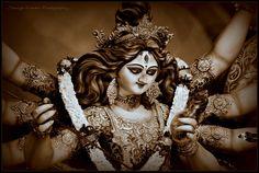 Maa Durga by Taniya Kundu on Durga Ji, Durga Goddess, Hindu Worship, Manoj Kumar, House Outside Design, Durga Images, Shiva Art, Lord Ganesha, Mehendi