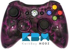 Purple Battered Skulls Xbox 360 Controller - KwikBoy Modz #customcontroller #moddedcontroller #batteredskulls #skulls #xbox360 #xbox360controller #gaming