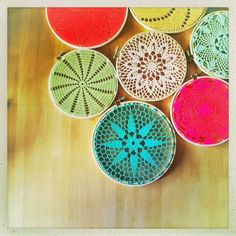 doily embroidery hoop art