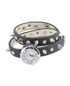 Retro Spiked Stud Wrapped Watch - Bracelets & Bangles - Jewellery - All Products