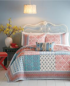 CLOSEOUT! Jessica Simpson Indian Sunrise Standard Sham - Quilts & Bedspreads - Bed & Bath - Macy's