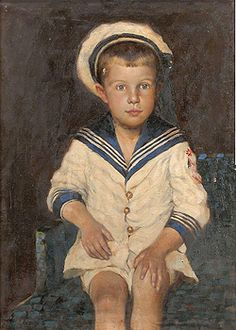 Painting of a boy in sailor suit