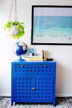 Katalina Mayorga - DIY Home Design Tips, Ideas - great colour! Decor, Home Diy, Blue Furniture, Furniture Makeover, House Design, Diy Furniture, Online Interior Design Services, Home Decor, Decorate Your Room