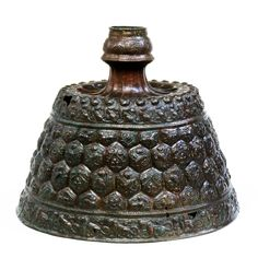 Candlestick, embossed and engraved brass Eastern Iran or Afghanistan; 2nd half of 12th century H: 33; Diam: 40 cm