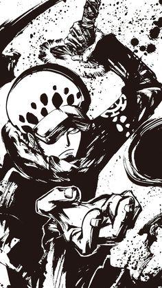 Trafalgar Law (one piece) One Piece Manga, One Piece Drawing, Zoro One Piece, One Piece Tattoos, Pieces Tattoo, One Piece Pictures, One Piece Images, Trafalgar Law Wallpapers, Trafalgar D Water Law