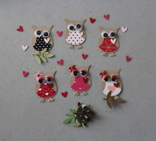 Stampin' Up Valentine's Day Owls  6 OWL & 6 Branch Punches Set of 6