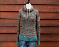 crochet:  $4.00 pattern.  super cute cowl neck pullover.  this has a very modern & feminine look, i like!