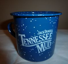 Metal Enamel Cup Jack Daniels Tennessee Mud Amaretto Whip Cream Whiskey Mexico