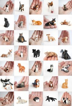 fun mini sculpture of your pet! --by le animalé--