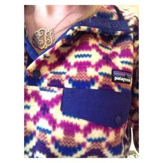My absolute two favorite things: My monogrammed necklace & patagonia pullover!