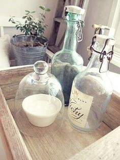 A luscious life - bottles wooden box - Living lusciously.JPG