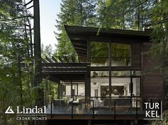 """Great Tree house!  Love the """"Pergola"""" covered porch with the modern look."""