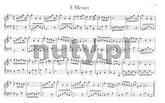 Menuet B - nuty.pl Sheet Music, Math Equations, Music Score, Music Notes