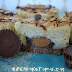 Reese's peanut butter cup mini cheesecakes recipe