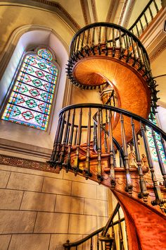 The stairway in the Loretto Chapel in Santa Fe New Mexico