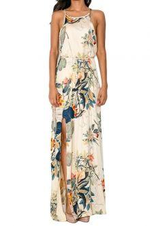 Floral Print Spaghetti Strap Maxi Dress