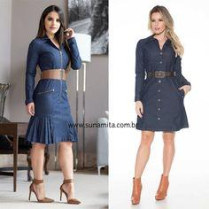 Em nosso site vc encontra looks Jeans Apaixonantes ❤❤ Look 1 👉 6x R$ 76.50 Look 2 👉 6x R$ 76.70 Acess