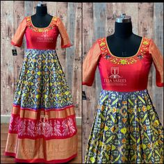 Available For orders/queries Call/ what's app us on 8341382382 or Mail us… Anarkali Dress Pattern, Saree Blouse Patterns, Saree Blouse Designs, Lehenga Designs, Blouse Styles, Simple Kurti Designs, Half Saree Designs, Bridal Blouse Designs, Dress Designs