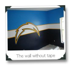 SAN DIEGO CHARGERS like idea of wall colors for sons room