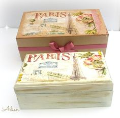 Decorated Gift Boxes Hand Decorated Wooden Box With Gift Box Vintage Flowers