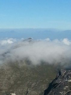 Table mountain above the clouds