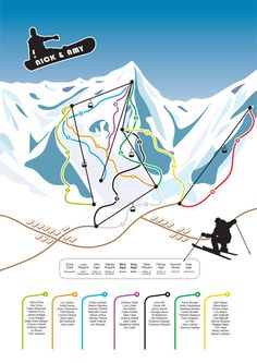 Get Inspired! Ski (and Snowboard) Wedding Invitation
