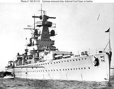 Admiral Graf Spee was a Deutschland-class heavy cruiser OR Pocket Battleship as it was commonly known.by the Allies. Navy Admiral, Heavy Cruiser, Naval History, Military History, Navy Ships, Royal Navy, War Machine, Battleship, World War Two