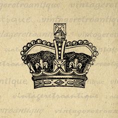 Digital Deluxe Crown Graphic Printable by VintageRetroAntique, $3.50