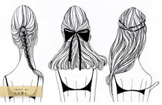 illustrated hair-do's: this makes me miss having long hair