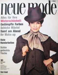 """1960s Magazine Cover. """"Neue Mode"""" Oktober 1967"""