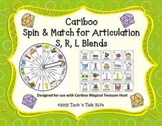Spin & Match Cariboo cards - includes 30 S Blends, 30 R Blends, 30 L Blends.  Spin to see which door you get to open.