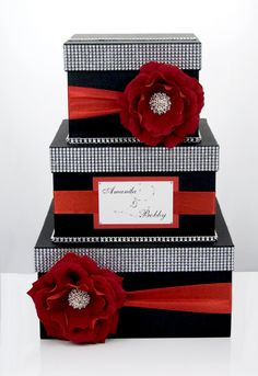 Card box / Wedding Box / Wedding money box 3 tier by DiamondDecor