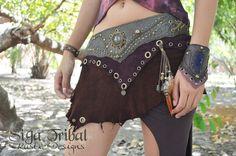Cuir jupe Gypsy Pirate Pixie Fairy par SigaTribal sur Etsy