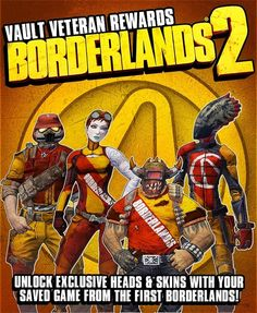 borderlands 2 rewards for borderlands players
