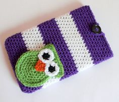 "Crochet Pattern PDF - Instant Digital Download - Striped Owl 7"" tablet cover, case, sleeve,  Nook, Kindle, Android diy Christmas gift"