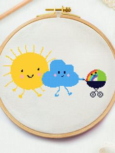 Excited to share this item from my #etsy shop: Baby cross stitch pattern Sun and Cloud x stitch Cute counted cross stitch Family Love embroidery design Rainbow decor DIY pdf #crossstitchpattern #easycrossstitchpattern #moderncrossstitchpattern #crossstitchpatternforbeginner #simplecrossstitchpattern #freecrossstitchpattern #modernembroideryscheme #crossstitchscheme #crossstitchchart #crossstitchtext #crossstitchquote #homedecorcross #cutecrossstitch #crossstitchsun #crossstitchfamily Cross Stitch Family, Small Cross Stitch, Cute Cross Stitch, Cross Stitching, Cross Stitch Embroidery, Rainbow Family, Dragon Cross Stitch, Baby Cross Stitch Patterns, Cross Stitch Quotes