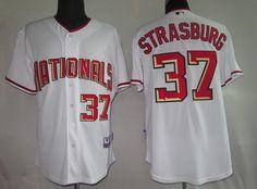 $22.00 MLB Jerseys Washington Nationals Stephen Strasburg #37 White