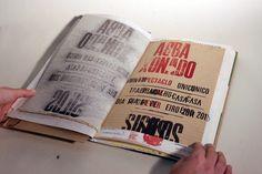 Gorgeous experimental print book by Apmub, a print shop
