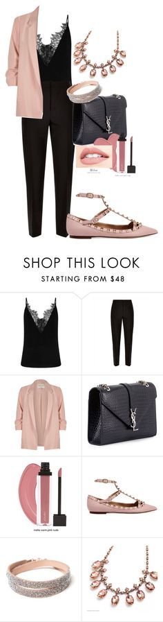 """Untitled #501"" by dreamer3108 on Polyvore featuring Jaeger, River Island, Yves Saint Laurent and Valentino"
